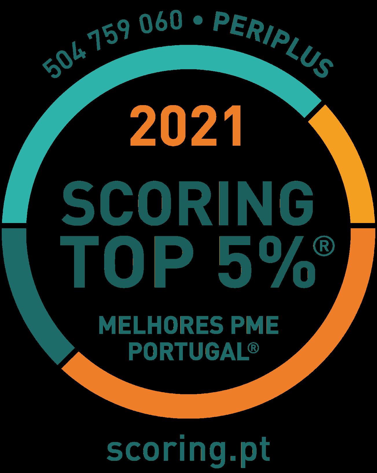 Certificação Scoring.pt Top 5% Melhores PME de Portugal Logo